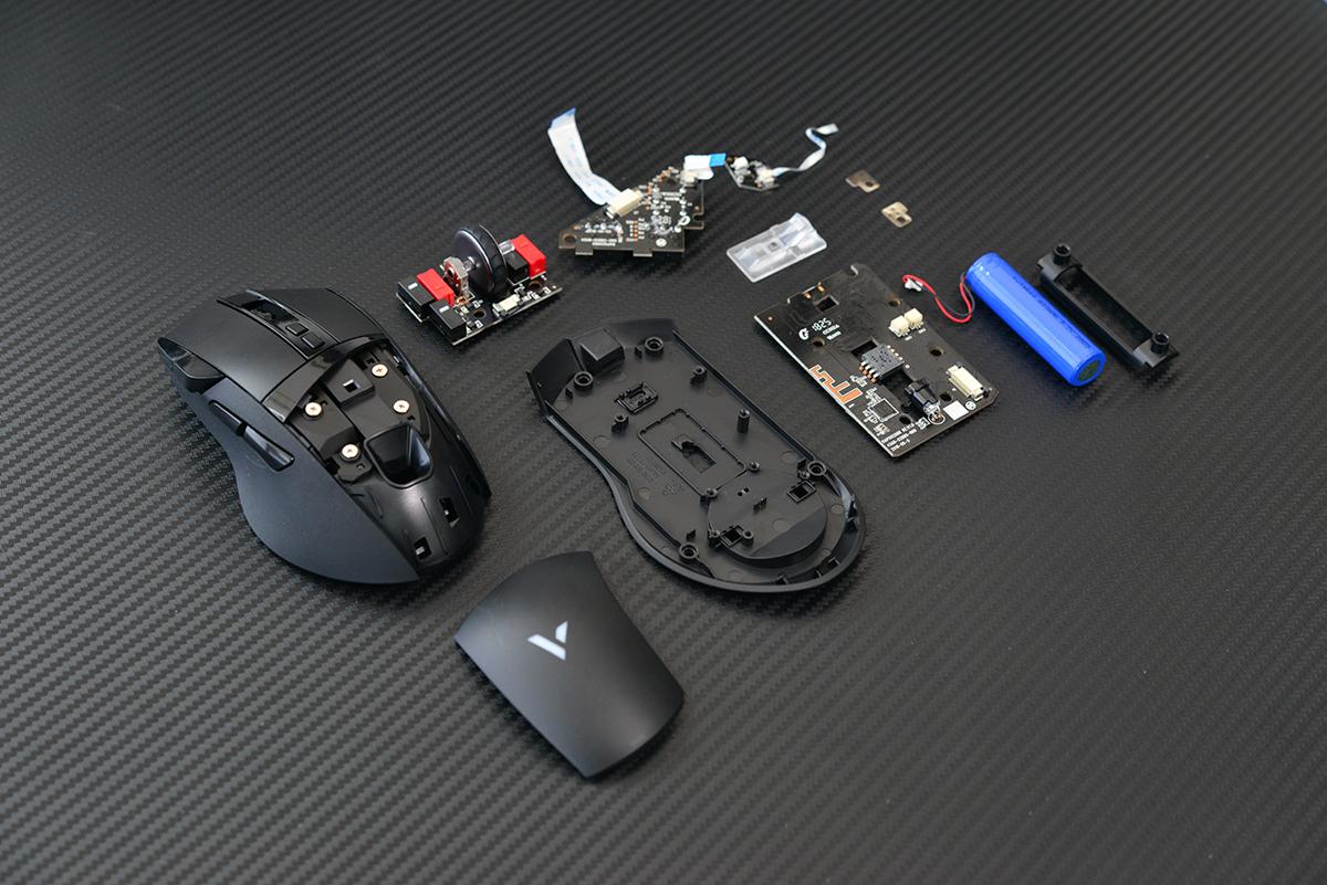 中端价格旗舰用料 雷柏VT350游戏鼠标拆解
