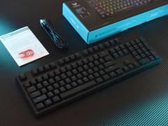 Cherry轴+RGB背光  雷柏V808 RGB游戏机械键盘开箱