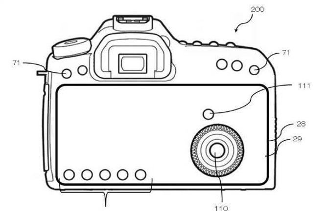 """稀有!相机也要全面屏 佳能相机触控""""全面屏""""专利曝光"""
