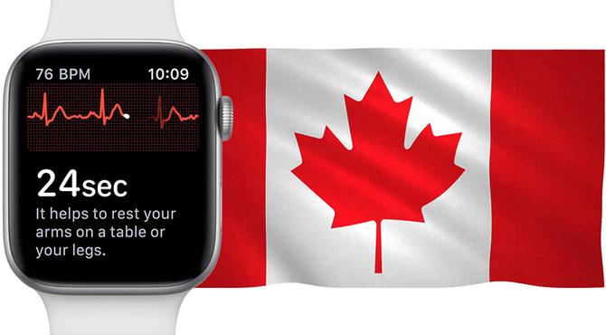 继中国香港之后 Apple Watch 4 心电图功能即将登陆加拿大