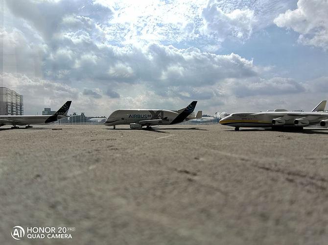 一景四摄:荣耀20 PRO镜头下的微缩机场
