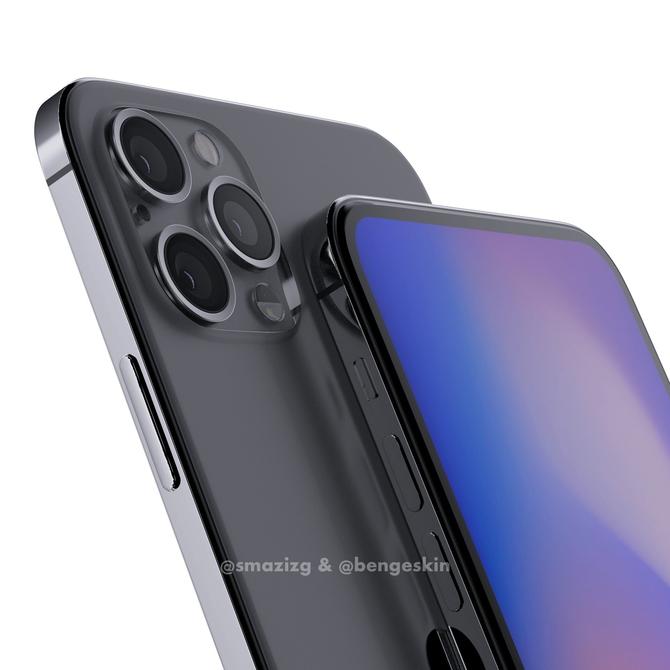 iPhone12 Pro概念渲染图首曝:无刘海全面屏,设计致敬乔布斯遗作