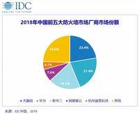 群雄割据,2018年中国防火墙市场份额出炉