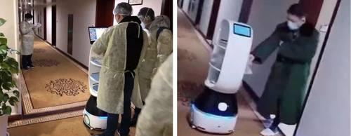 科技抗疫  擎朗送餐机器人集结