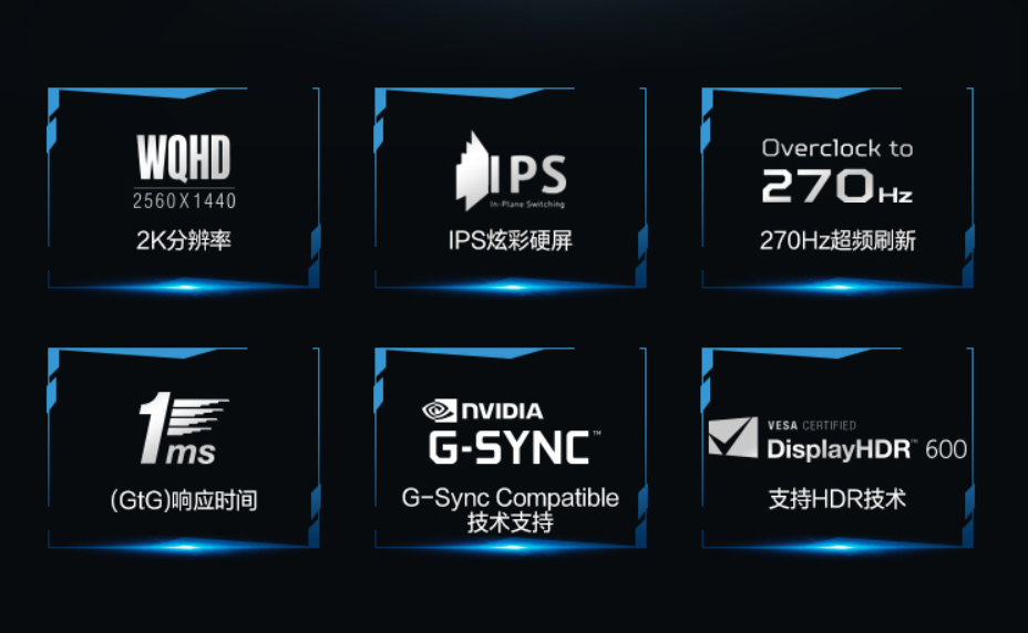 宏碁发布32英寸电竞显示器:2K+270Hz刷新率