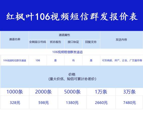 视频短信首选红枫叶传媒!群发1000条仅328元!